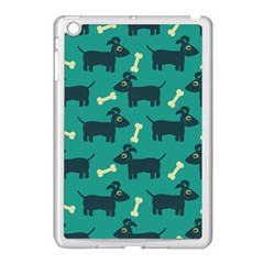 Happy Dogs Animals Pattern Apple Ipad Mini Case (white) by Nexatart