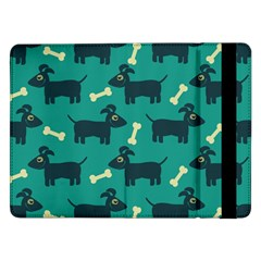 Happy Dogs Animals Pattern Samsung Galaxy Tab Pro 12 2  Flip Case by Nexatart