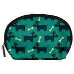 Happy Dogs Animals Pattern Accessory Pouches (Large)  Front