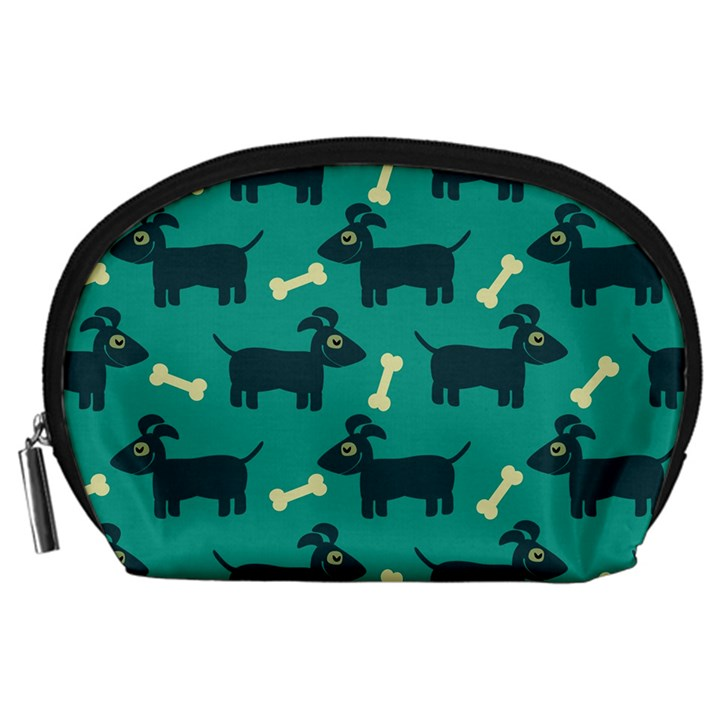 Happy Dogs Animals Pattern Accessory Pouches (Large)