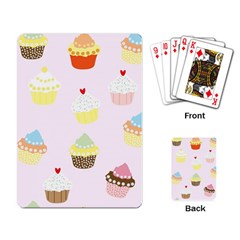 Seamless Cupcakes Wallpaper Pattern Background Playing Card by Nexatart