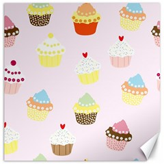 Seamless Cupcakes Wallpaper Pattern Background Canvas 16  X 16   by Nexatart