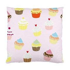 Seamless Cupcakes Wallpaper Pattern Background Standard Cushion Case (one Side) by Nexatart
