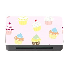 Seamless Cupcakes Wallpaper Pattern Background Memory Card Reader With Cf by Nexatart