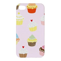 Seamless Cupcakes Wallpaper Pattern Background Apple Iphone 4/4s Premium Hardshell Case