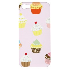Seamless Cupcakes Wallpaper Pattern Background Apple Iphone 5 Hardshell Case by Nexatart