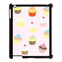 Seamless Cupcakes Wallpaper Pattern Background Apple Ipad 3/4 Case (black)