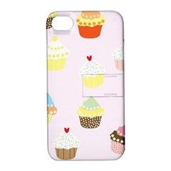 Seamless Cupcakes Wallpaper Pattern Background Apple Iphone 4/4s Hardshell Case With Stand by Nexatart
