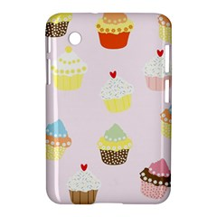 Seamless Cupcakes Wallpaper Pattern Background Samsung Galaxy Tab 2 (7 ) P3100 Hardshell Case