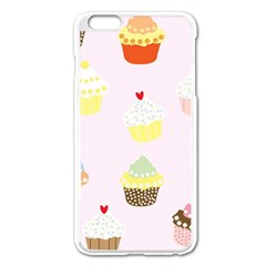 Seamless Cupcakes Wallpaper Pattern Background Apple Iphone 6 Plus/6s Plus Enamel White Case