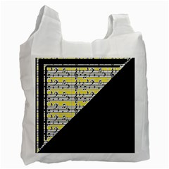 Note Abstract Paintwork Recycle Bag (two Side)  by Nexatart