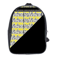 Note Abstract Paintwork School Bags(large)  by Nexatart