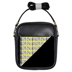 Note Abstract Paintwork Girls Sling Bags by Nexatart