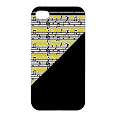 Note Abstract Paintwork Apple Iphone 4/4s Premium Hardshell Case