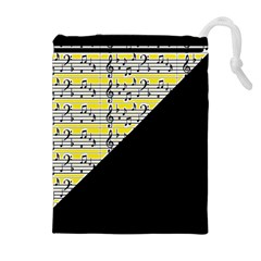 Note Abstract Paintwork Drawstring Pouches (extra Large) by Nexatart
