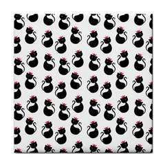Cat Seamless Animals Pattern Tile Coasters