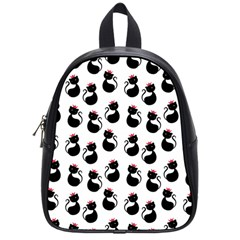 Cat Seamless Animals Pattern School Bags (small)  by Nexatart