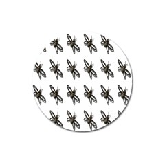 Insect Animals Pattern Magnet 3  (round)