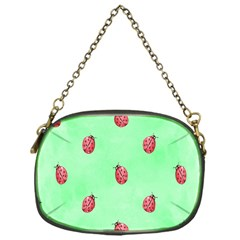 Pretty Background With A Ladybird Image Chain Purses (one Side)