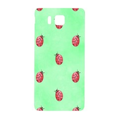 Pretty Background With A Ladybird Image Samsung Galaxy Alpha Hardshell Back Case by Nexatart
