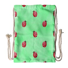 Pretty Background With A Ladybird Image Drawstring Bag (large) by Nexatart