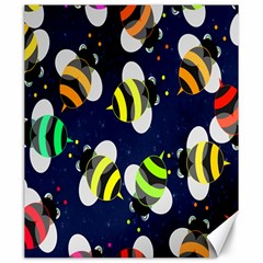 Bees Cartoon Bee Pattern Canvas 20  X 24