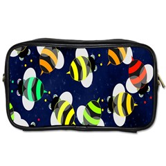 Bees Cartoon Bee Pattern Toiletries Bags by Nexatart