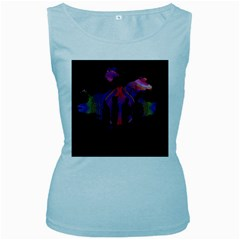 Abstract Surreal Sunset Women s Baby Blue Tank Top by Nexatart