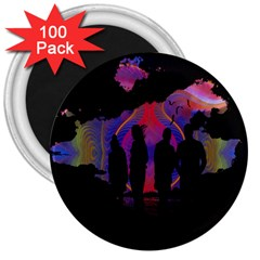 Abstract Surreal Sunset 3  Magnets (100 Pack) by Nexatart