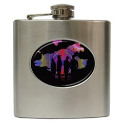 Abstract Surreal Sunset Hip Flask (6 Oz) by Nexatart