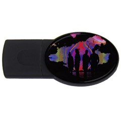 Abstract Surreal Sunset Usb Flash Drive Oval (4 Gb) by Nexatart
