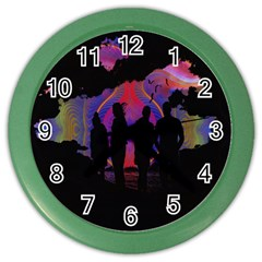 Abstract Surreal Sunset Color Wall Clocks