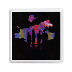 Abstract Surreal Sunset Memory Card Reader (square)  by Nexatart