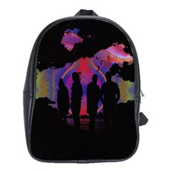 Abstract Surreal Sunset School Bags (xl)  by Nexatart