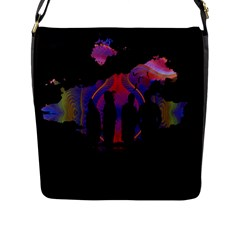 Abstract Surreal Sunset Flap Messenger Bag (l)