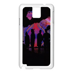 Abstract Surreal Sunset Samsung Galaxy Note 3 N9005 Case (white) by Nexatart