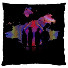 Abstract Surreal Sunset Large Flano Cushion Case (two Sides) by Nexatart