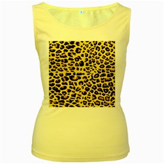 A Jaguar Fur Pattern Women s Yellow Tank Top by Nexatart