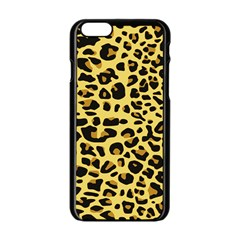 A Jaguar Fur Pattern Apple Iphone 6/6s Black Enamel Case by Nexatart