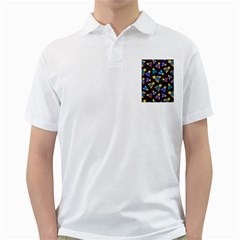 Bees Animal Insect Pattern Golf Shirts by Nexatart