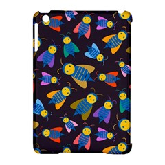 Bees Animal Insect Pattern Apple Ipad Mini Hardshell Case (compatible With Smart Cover) by Nexatart
