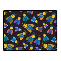 Bees Animal Insect Pattern Double Sided Fleece Blanket (small)  by Nexatart