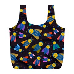 Bees Animal Insect Pattern Full Print Recycle Bags (l)  by Nexatart