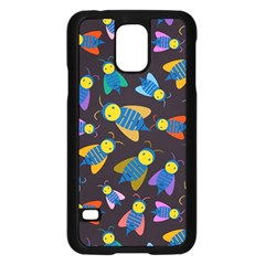 Bees Animal Insect Pattern Samsung Galaxy S5 Case (black) by Nexatart