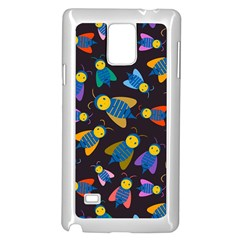 Bees Animal Insect Pattern Samsung Galaxy Note 4 Case (white)