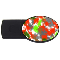 Abstract Watercolor Background Wallpaper Of Splashes  Red Hues Usb Flash Drive Oval (4 Gb) by Nexatart
