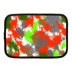 Abstract Watercolor Background Wallpaper Of Splashes  Red Hues Netbook Case (medium)  by Nexatart