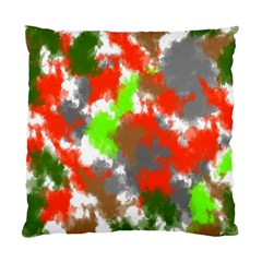 Abstract Watercolor Background Wallpaper Of Splashes  Red Hues Standard Cushion Case (two Sides)