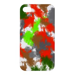 Abstract Watercolor Background Wallpaper Of Splashes  Red Hues Apple Iphone 4/4s Premium Hardshell Case