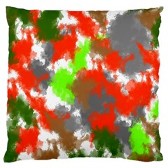 Abstract Watercolor Background Wallpaper Of Splashes  Red Hues Large Cushion Case (two Sides) by Nexatart